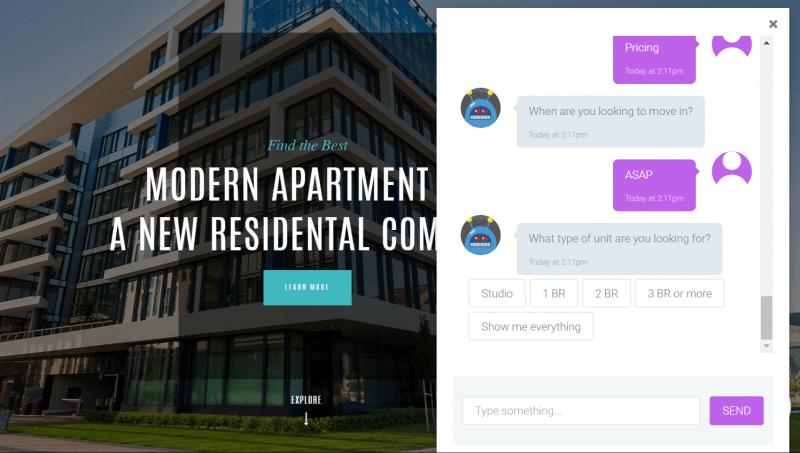 The first Multifamily Chatbot for apartments