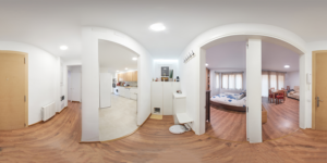 Panoramic view of an apartment interior